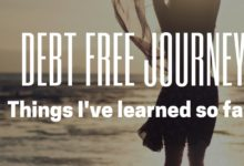 Debt Free Journey:  Things I've Learned So Far